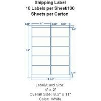 """Wholesale Removable Shipping Label 4""""x2"""" 10 Labels per Sheet/100 Sheets per Carton from china suppliers"""