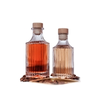 Wholesale 250ml Vertical Striped Glass Bottle With Wooden Cork Caps from china suppliers