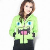 Wholesale Women's Embroidered Hoodie Jacket from china suppliers