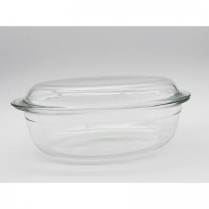 Wholesale 4L 4.5L 6.5L Glass Baking Dish Heat Resistant Baking Pan Glass Pizza Pan from china suppliers