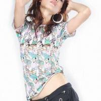 Wholesale Women's Yardage Printed T-shirt from china suppliers