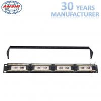 Wholesale 110 Idc Rack Mount Patch Panel 19 Inch Cat6 Unshield UTP With Cable Manager from china suppliers
