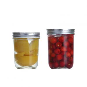 Wholesale 200ml 300ml Mason Glass Storage Jars Eco Friendly Standard Packing from china suppliers