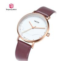 Buy cheap Ladies Leather Causal Quartz Hand Watch Waterproof 20cm Band Length from wholesalers