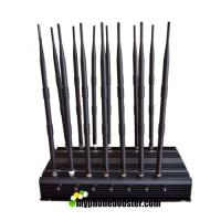Wholesale 14 Antennas 35W High Power Adjustable Cell Phone Signal Jammer Blocker Jam GSM DCS 3G 4G Wimax Wifi GPS Camera UHF VHF from china suppliers