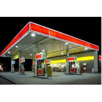 China Space Frame Steel Structure Fast Building Gas Petrol Station Construction on sale