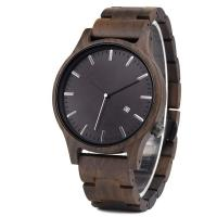 Buy cheap 2019 New Wooden Fashion Luxury Environmental Protection Men's Quartz Date Watch from wholesalers