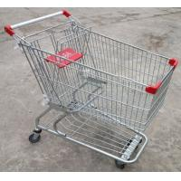 Wholesale Custom Grocery Shopping Trolley Wire Cart On Wheels American Style 180 Litres from china suppliers