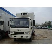 Wholesale Sinotruk FAW 4X2 Small Refrigerated Truck , 5T Fiberglass Commercial Refrigerated Trucks from china suppliers