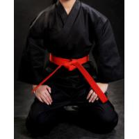 China WKF approved different colour karate training uniform,karate kimono Twill Fabric black Karate Gi Uniforms for sales on sale