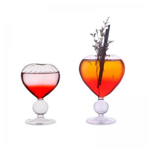 Wholesale Clear Heart Shaped 180ml 380ml Glass Goblets Bulk For Nightclub Bar from china suppliers