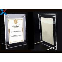 Wholesale Clear Acrylic Photo Frame A4 A3 Certificate / Business License Frame from china suppliers