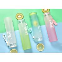 Wholesale Heat Resistant Frosted Glass Bottles With Custom Logo 5.8cm * 19.2cm Easy To Carry from china suppliers