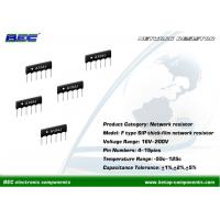 Wholesale 200V, -55℃ ~ 125℃ Resistors Network - F Type With Stable Performance for Limited Space PCBs from china suppliers