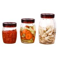 Wholesale Wide Mouth Mason Jar Glasses / Round Shape Glass Honey Jars 1.2L Capacity from china suppliers