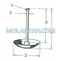 Wholesale Molastar Stainless Steel Marine Mushroom Anchor Plough Anchor  Easy Handling Steel Anchor For Marine from china suppliers