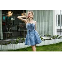 Quality Women High Waist Slimming Casual Summer Day Dresses Tube Top Sexy Ruffled Sling for sale