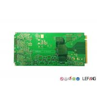 Buy cheap Multilayer PCB Printed Controller Circuit Board Green Solder Mask With Gold Finger from wholesalers