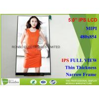 "TFT Color Cell Phone LCD Display High Brightness 5"" 480 x 854 With MIPI Interface"
