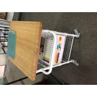Wholesale Free Standing Industrial Wire Shelving , Open White Kitchen Wire Cart Restaurant Furniture from china suppliers
