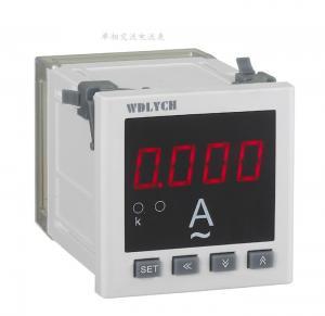 Wd-9id 96*96mm Ac Digital Panel Ammeter , Waterproof Digital Ammeter Gauge Single Phase