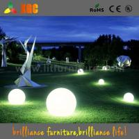 Buy cheap garden decoration LED plastic light balls outdoor events balls 16 colors for from wholesalers