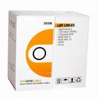 China Cat5e Outdoor LAN Cable with Double Jacket CCA and Copper Conductor on sale