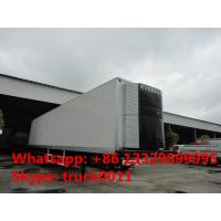 Wholesale 40 foot tri-axle mobile refrigerated cargo container trailer, best price factory sale45tons freezer van semitrailer from china suppliers