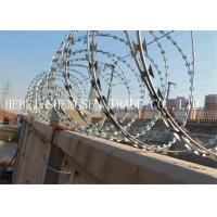Wholesale CBT65 Stainless Steel Razor Barbed Wire , 2.5mm Razor Blade Wire For Railway from china suppliers