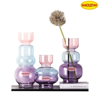 Wholesale Hand Blown Lead Free Colored Decorative Glass Vases from china suppliers