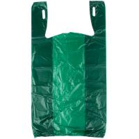 Wholesale Green Color Grocery Shopping Bags , Plastic Tee Shirt Bags Environmental Friendly from china suppliers