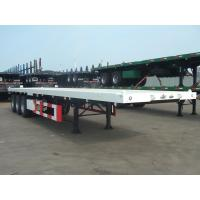 Quality Heavy Duty 40 Foot FlatBed Container Semi Trailer With 3 Axles Customized Color for sale