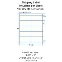 """Wholesale Butt Cut Square Shipping Label 4-1/4""""x2"""" 10 Labels per Sheet 100 Sheets per Carton from china suppliers"""