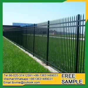 China Savannah tubular steel fence Eugene modern picket fence factory on sale