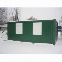 Wholesale 5.95 x 2.45 x 2.7m container house, foldable and modular frame, 7units in one 40ft HQ from china suppliers