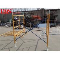 Durable Steel Tubular Scaffolding Ladder Frame For High Rise Building Construction