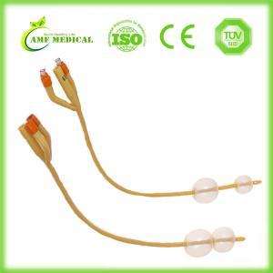 Buy cheap Male Latex Foley Catheter , Three Way 2 Way Silicone Foley Urinary Catheter from wholesalers