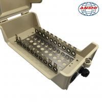 Quality Outdoor Key Lock Cable Distribution Box 100 Pair Waterproof For LSA Modules for sale