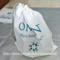 Wholesale Electronic Product White Drawstring Plastic Bags Scrubbing String Bag from china suppliers