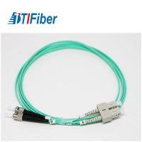 Wholesale SC-FC LSZH 2.0m Fiber Optic Patch Cables , Fiber Optic Network Cable With Aqua from china suppliers