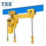 Wholesale TXK Heavy Duty 0.5-5 Ton Double Hook Electric Chain Hoist For Single Girder Bridge Crane from china suppliers