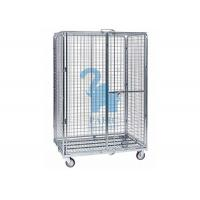 Wholesale Multi - Level Foldable Wire Mesh Storage Cages Wire Mesh Cart With Wheels from china suppliers