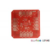 Buy cheap Double Sided Heavy Copper PCB Board , Lead Free HASL Metal Backed PCB Red Solder Mask from wholesalers