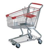 Wholesale OEM Heavy Duty Metallic PU Supermaket Shopping Carts with Wheels from china suppliers