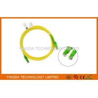 Wholesale HUBER + SUHNER E2000 / APC SC Fiber Optic Patch Cable 3 Meters / Fiber Optic Jumpers from china suppliers