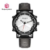 Buy cheap Quartz Male / Mens Genuine Leather Strap Watches Waterproof 42mm Dial Sports from wholesalers