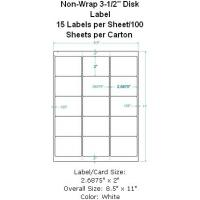 "Wholesale Non-Wrap 3-1/2"" Disk Label 15 Labels per Sheet/100 Sheets per Carton from china suppliers"