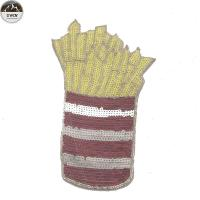 Buy cheap French Fries Style Sequin Embroidery Patches For Clothing , Hats , Shoes from wholesalers