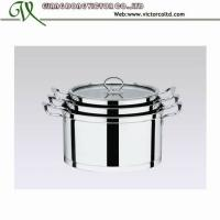 Wholesale 3 PCS Stainless steel European Pot set 18cm 20cm 22cm 24cm 26cm capsulated bottom from china suppliers