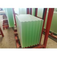 Buy cheap Patterned Solar PV Glass , Ultra White Low Iron Toughened Glass 91.7% Transmittance from wholesalers